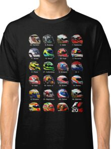 Formula 1 2016 drivers helmets all Classic T-Shirt