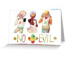 No evil Greeting Card