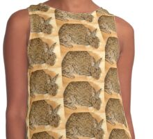 Tea & Coffee stained Rabbit Contrast Tank