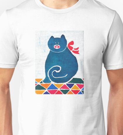 Cat with a red bow Unisex T-Shirt