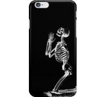 Kneeling Skeleton Print  iPhone Case/Skin