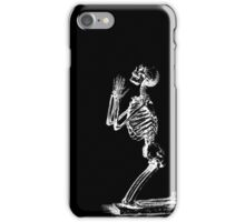 Kneeling Skeleton Print  iPhone Case/Skin