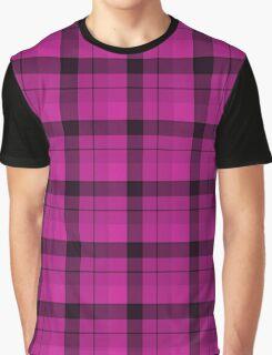 Tartan Plaid Hot Pink Black Graphic T-Shirt
