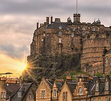 Edinburgh Castle Sunset, Candlemaker Row by Miles Gray