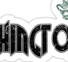FISH WASHINGTON VINTAGE LOGO Sticker