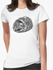 Diogenes surreal pen ink black and white drawing Womens Fitted T-Shirt