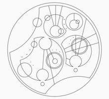 'Gallifrey Falls No More.' in Gallifreyan - Sleek (Black) by ChibiPeppers