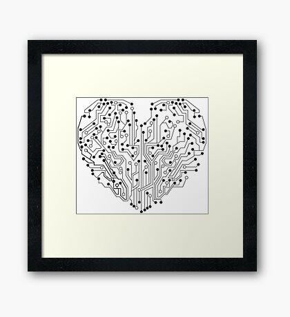 Circuit Hearth Framed Print