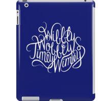 Wibbly Wobbly White iPad Case/Skin