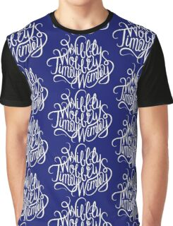 Wibbly Wobbly White Graphic T-Shirt
