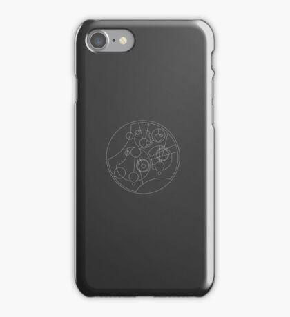 'Gallifrey Falls No More.' in Gallifreyan - Sleek (White) iPhone Case/Skin