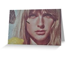 blond lady on a wall  Greeting Card