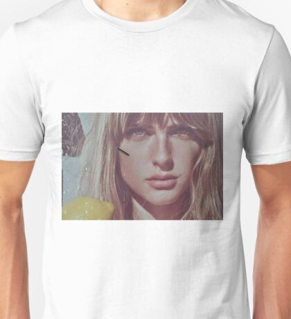 blond lady on a wall  Unisex T-Shirt