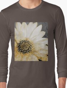 Gold and White Daisy Long Sleeve T-Shirt