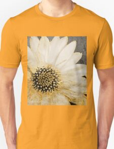 Gold and White Daisy Unisex T-Shirt