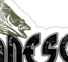 FISH MINNESOTA VINTAGE LOGO Sticker