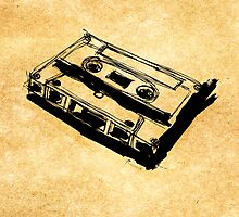 Retro Cassette Tape by Francis Fung