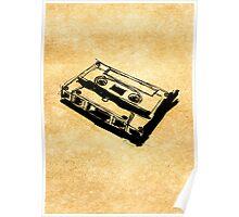 Retro Cassette Tape Poster