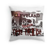 Beware The Tribe Throw Pillow