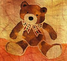 Teddy bear with a bow by maystra