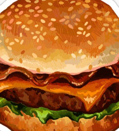 bacon cheeseburger Sticker