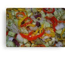 Greek salad Canvas Print