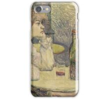 Henri de Toulouse-Lautrec  - The Hangover (Suzanne Valadon) (1887 - 1889)Woman Portrait iPhone Case/Skin