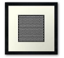 Black & White Triangle Pattern Framed Print