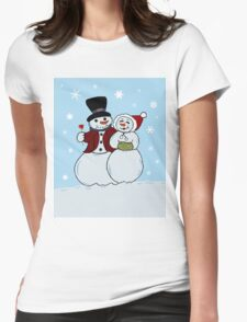Snowcouple Womens Fitted T-Shirt