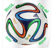 Balón copa del mundo Brasil 2014 Poster