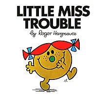 Little Miss Trouble Photographic Print