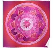 Root Chakra Mandala Poster