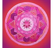 Root Chakra Mandala Photographic Print