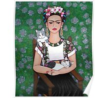 Frida cat lover Poster