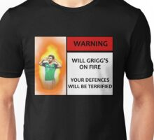 Will Grigg's on Fire! Your Defences Will Be Terrified Unisex T-Shirt