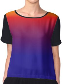 Gradient Colors 3 Chiffon Top