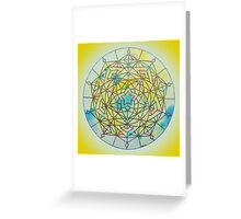 Solar Plexus Chakra Mandala Greeting Card