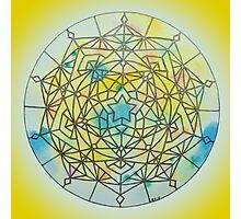 Solar Plexus Chakra Mandala Photographic Print