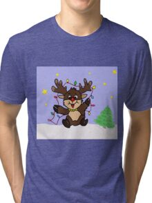 Little Reindeer Tri-blend T-Shirt
