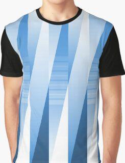 Layered Blue Tones Graphic T-Shirt