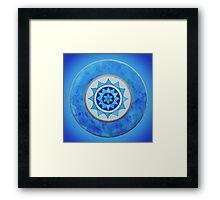 Throat Chakra Mandala Framed Print