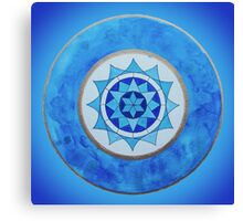 Throat Chakra Mandala Canvas Print