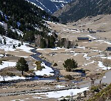 snowy mountains of Andorra La Vella by arnau2098