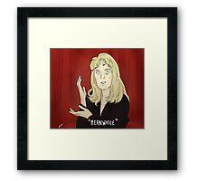 "Laura Palmer ""Meanwhile"" Framed Print"