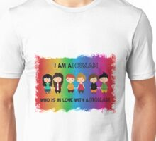I'm a human who is in love with a human  Unisex T-Shirt