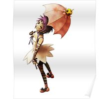 road kamelot with her umbrella Poster