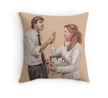 Paper Doves Throw Pillow