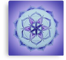 Crown Chakra Mandala Canvas Print