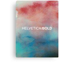 Helvetica Bold Canvas Print