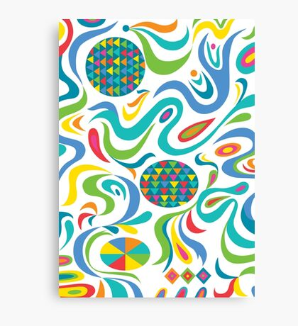 Cartwheel white Canvas Print